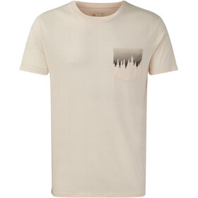 tentree Juniper Pocket T-shirt Heren, elm white heather